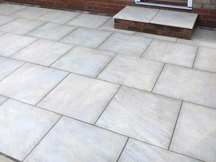 Sunrise Buff Paving