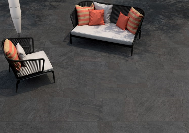 Percorsi Black Porcelain Paving